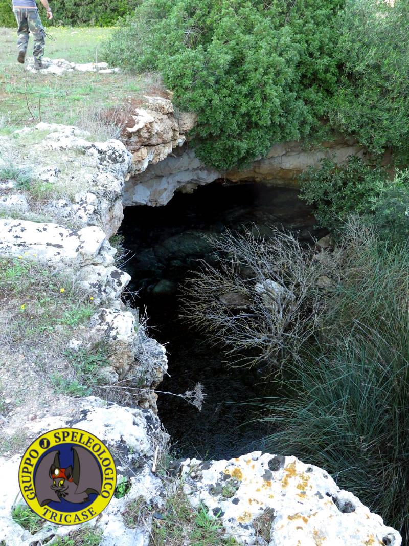 un sinkhole della zona visto dal piano campagna