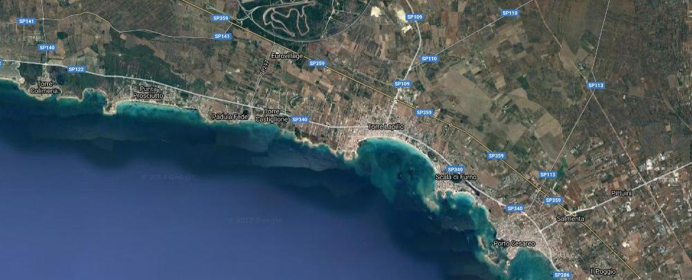 area di Torre Castiglione da satellite